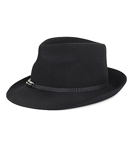 STELLA MCCARTNEY Falabella chain-detail wool hat (Black