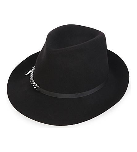 STELLA MCCARTNEY Falabella chain-detail wool hat (Blk
