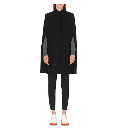 STELLA MCCARTNEY Anouk wool-blend cape (Blk