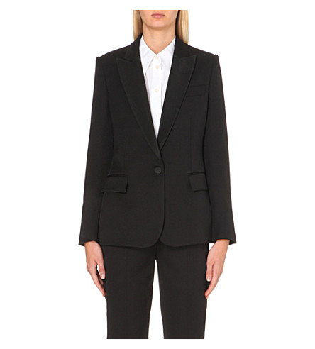 STELLA MCCARTNEY Tuxedo wool jacket (Black