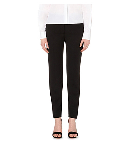 STELLA MCCARTNEY Slim-fit wool trousers (Black