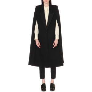 Wool-blend cape jacket