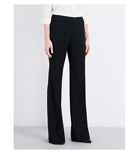STELLA MCCARTNEY Jasmine flared wool-twill trousers (Black