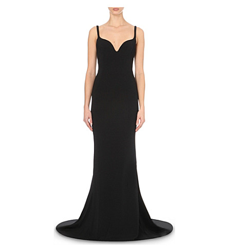 STELLA MCCARTNEY Primrose stretch-crepe gown (Black