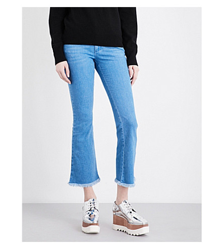 STELLA MCCARTNEY Mid-rise flared cropped jeans (Ultra blue