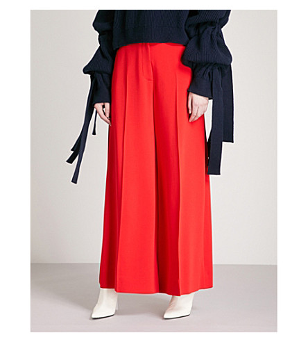 STELLA MCCARTNEY Darcy wide-leg stretch-crepe trousers (Lipstick