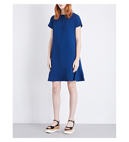 STELLA MCCARTNEY Flared stretch-crepe dress (Petrol