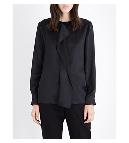 STELLA MCCARTNEY Goldie silk-satin shirt (Blk