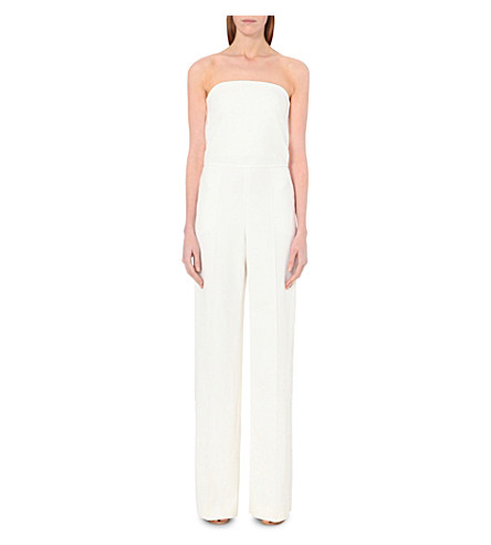 STELLA MCCARTNEY Strapless wool-crepe jumpsuit (Ivory