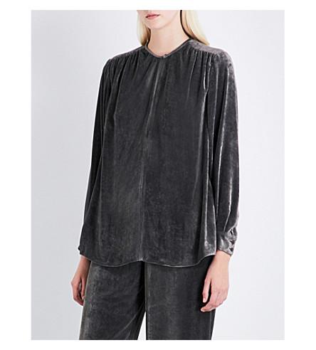 STELLA MCCARTNEY Otto velvet blouse (Grey