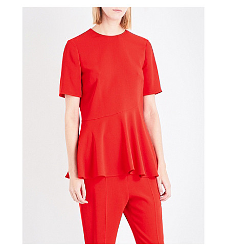 STELLA MCCARTNEY Mirella stretch-crepe top (Lipstick