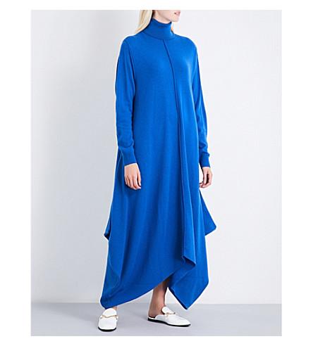 STELLA MCCARTNEY Turtleneck wool midi dress (Blue