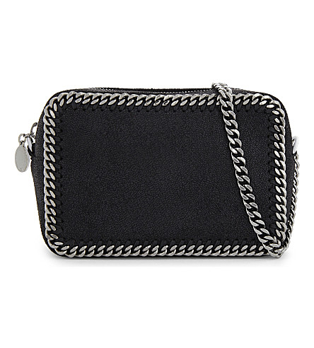 STELLA MCCARTNEY Falabella small faux-suede cross-body bag (Black