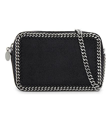 STELLA MCCARTNEY Falabella small faux-suede cross-body bag (Black