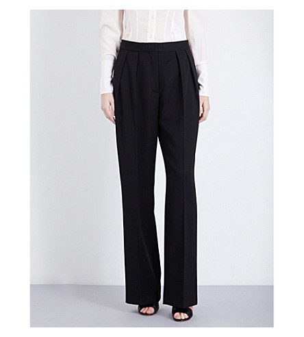 STELLA MCCARTNEY Corinne high-rise wool trousers (Blk