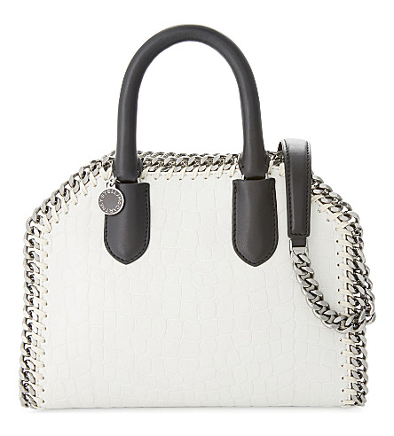 STELLA MCCARTNEY Faux-leather chain cross-body bag (Ivory