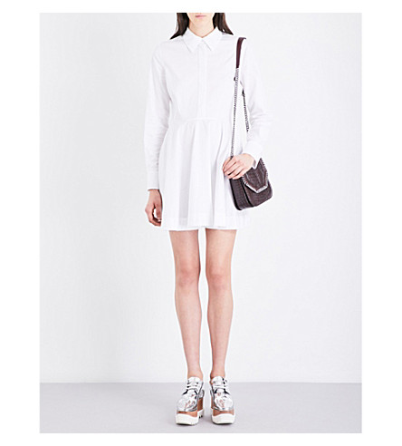 STELLA MCCARTNEY Leile cotton-poplin shirt dress (White 2