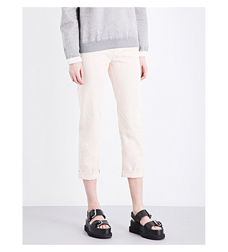 STELLA MCCARTNEY Straight high-rise jeans (Ecru