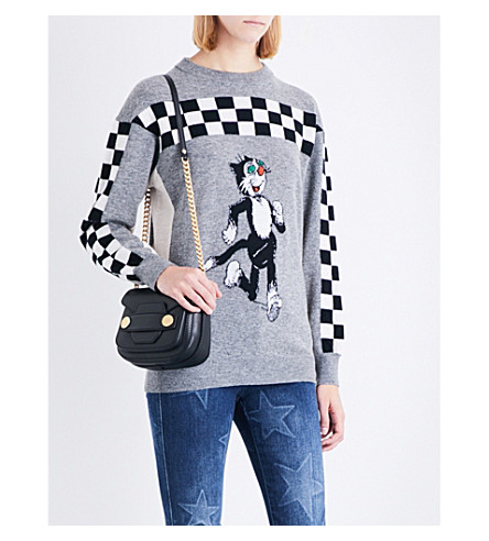STELLA MCCARTNEY The Dandy wool sweater (Black/white
