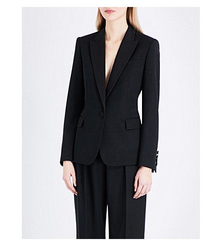 STELLA MCCARTNEY Single-breasted wool jacket (Blk