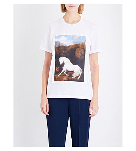 STELLA MCCARTNEY Horse-print cotton-jersey T-shirt (Lily