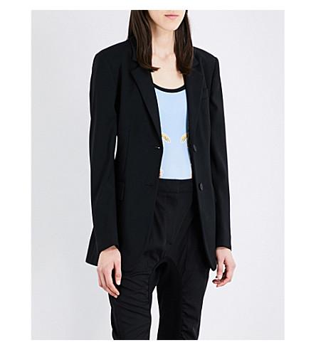 STELLA MCCARTNEY Single-breasted twill jacket (Black