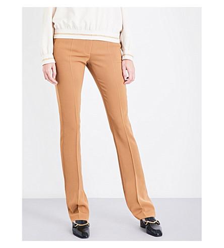 STELLA MCCARTNEY Jodi slim-fit wool-twill trousers (Camel
