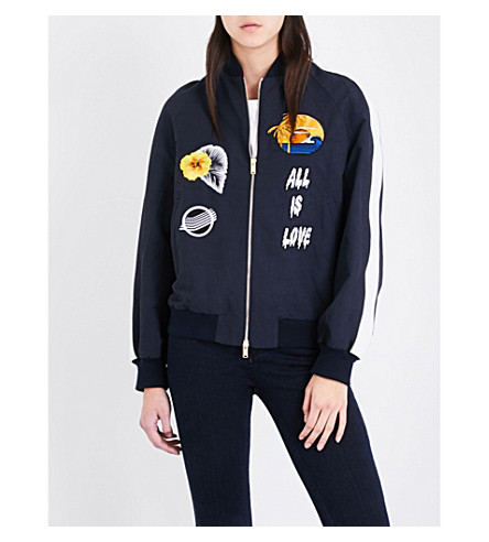 STELLA MCCARTNEY All Is Love compact-cotton bomber jacket (4101 - ink