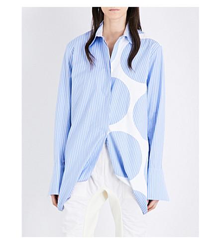 STELLA MCCARTNEY Manuela striped cotton-poplin shirt (Sky blue
