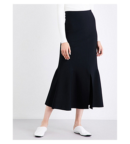 STELLA MCCARTNEY Flared knitted skirt (Black
