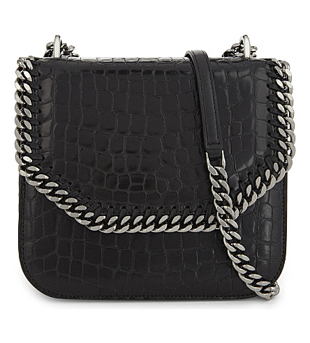STELLA MCCARTNEY Falabella faux-leather cross-body bag (Black