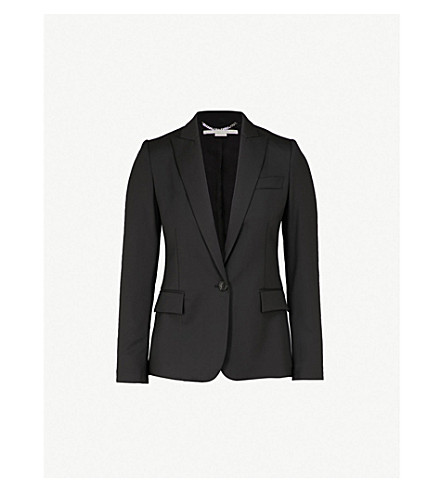 STELLA MCCARTNEY Ingrid single-breasted wool jacket (Black