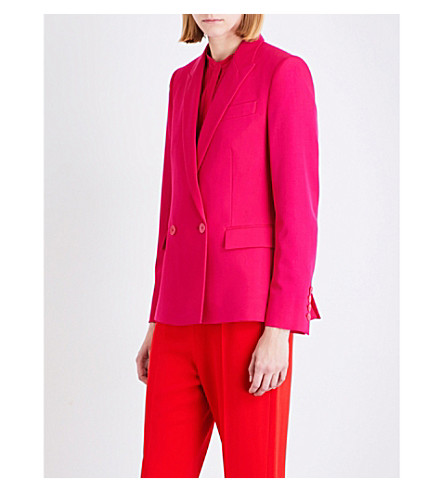 STELLA MCCARTNEY Dahia double-breasted wool jacket (Hot+pink
