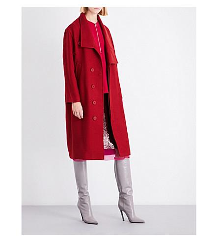 STELLA MCCARTNEY Oversized wool-blend coat (Cranberry