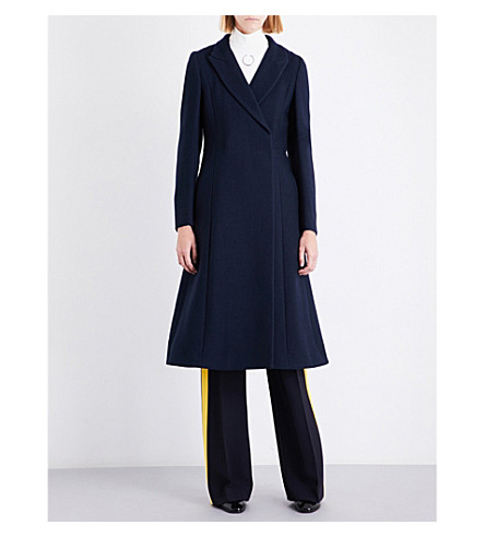 STELLA MCCARTNEY Vivienne double-breasted wool-blend coat (Ink