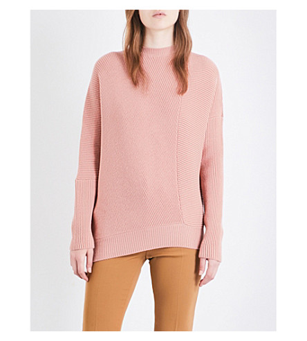 STELLA MCCARTNEY Ribbed knitted jumper (Blush