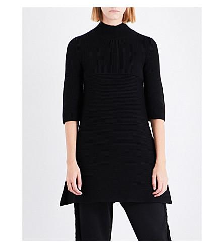 STELLA MCCARTNEY A-line wool jumper (Black