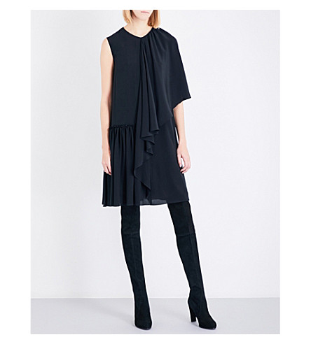 STELLA MCCARTNEY Emmanuelle silk-chiffon dress (Black