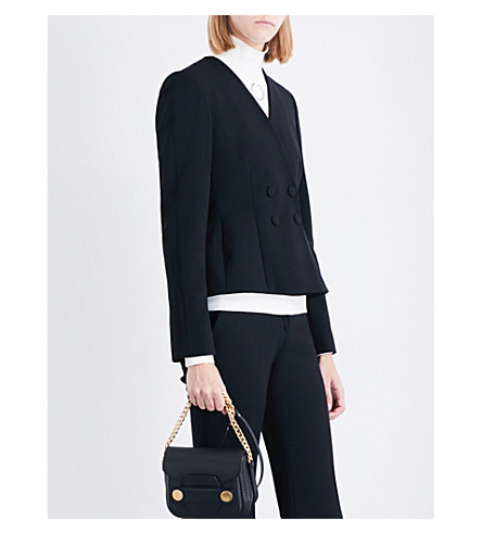 STELLA MCCARTNEY Peyton double-breasted stretch-wool jacket (Black
