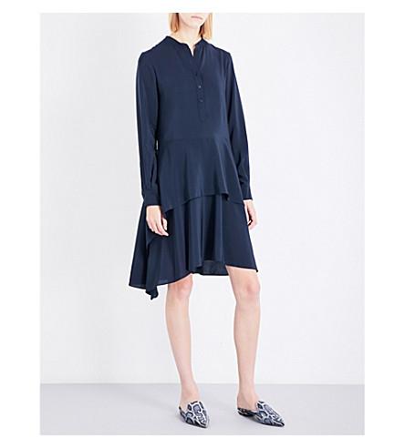 STELLA MCCARTNEY Dakota silk-crepe dress (Ink