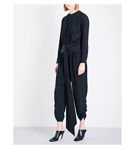STELLA MCCARTNEY Michella silk crêpe de chine jumpsuit (Black