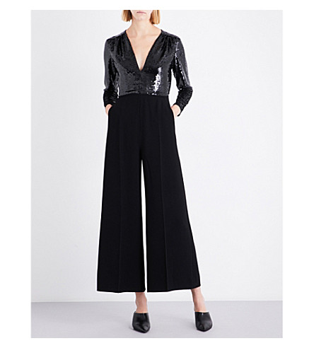 STELLA MCCARTNEY Rosie sequin and silk jumpsuit (Black