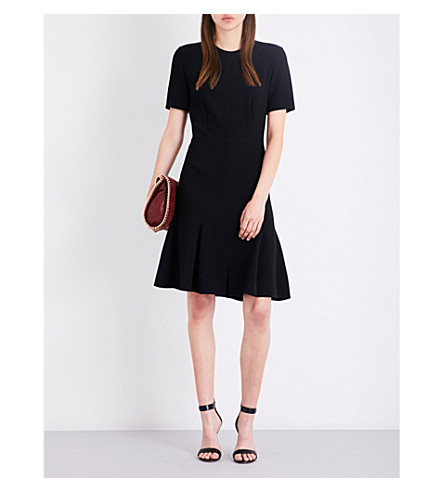 STELLA MCCARTNEY Sierra flared-hem crepe dress (Black