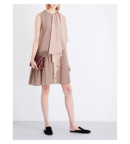 STELLA MCCARTNEY Emmanuelle silk-crepe dress (Camel