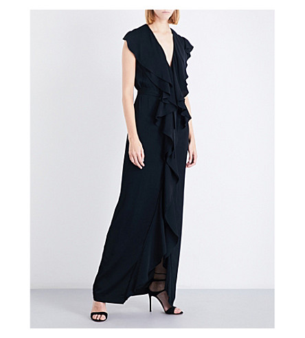 STELLA MCCARTNEY Rasalia ruffled crepe gown (Black