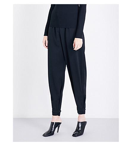 STELLA MCCARTNEY Lexi high-rise wool twill trousers (Black