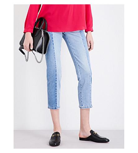STELLA MCCARTNEY Kim straight cropped mid-rise jeans (Denim