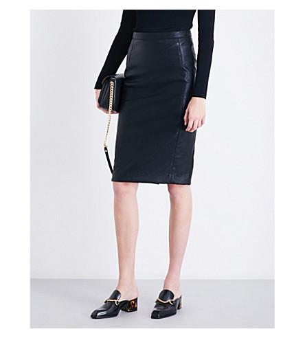 STELLA MCCARTNEY Mansela vegan faux-leather pencil skirt (Black
