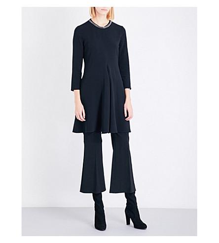 STELLA MCCARTNEY Emily chain-detail crepe dress (Black