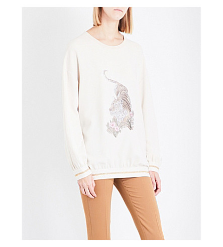 STELLA MCCARTNEY Ines crepe jumper (Jesso+/+light+cream